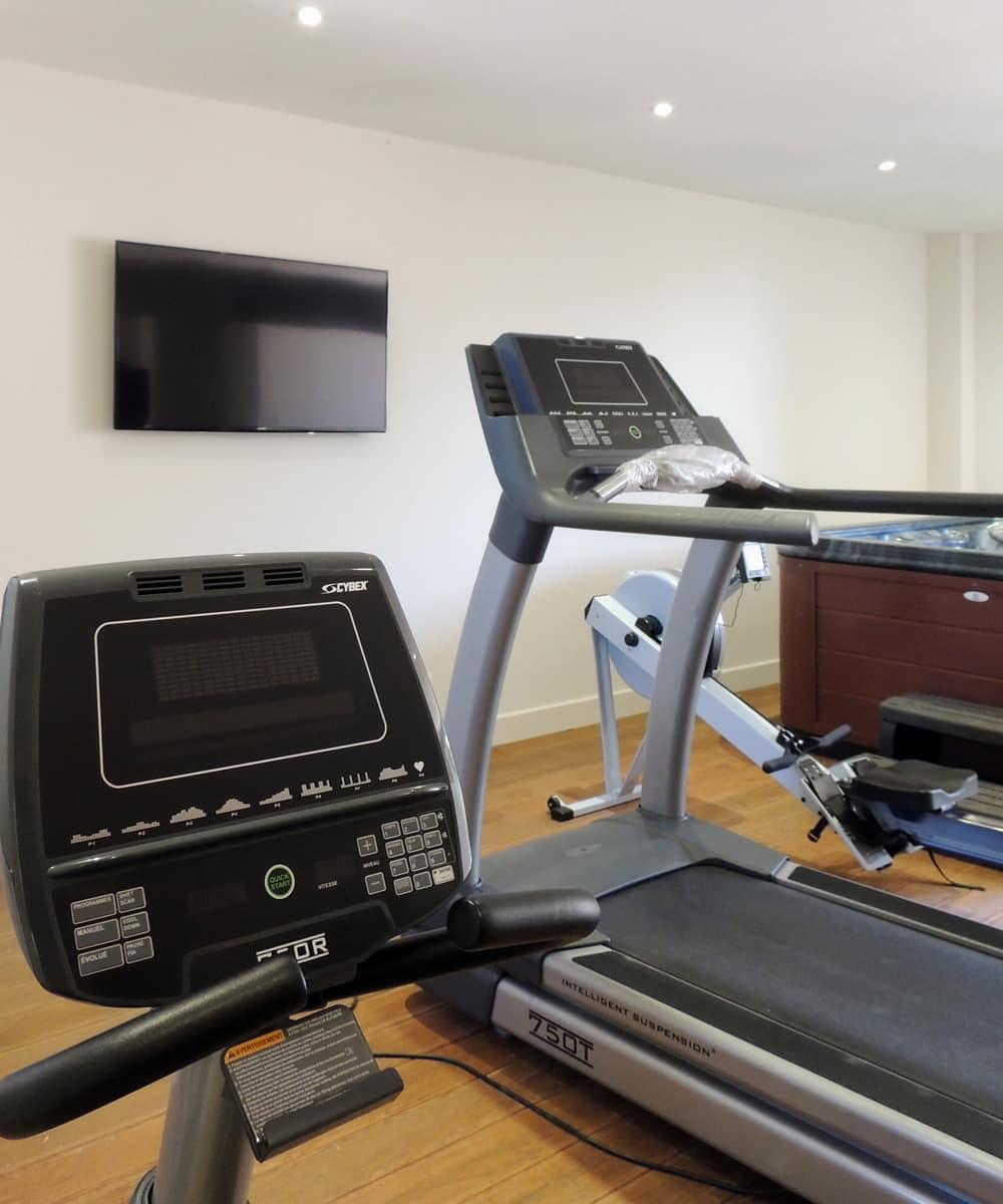 Salle de fitness du château d'Allogny