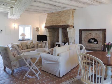 Salon de la Loge du château d'Allogny