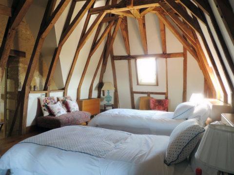 Location - Chambre mansardée du château d'Allogny