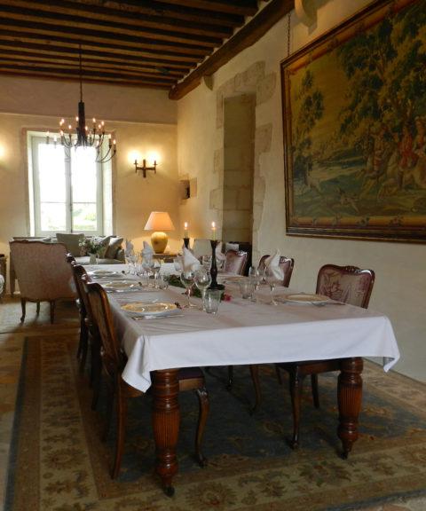 Salle à manger du château d'Allogny